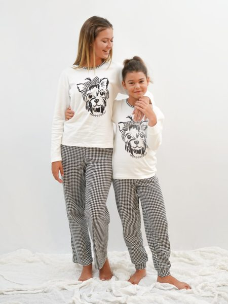 pijama algodon madre e hija