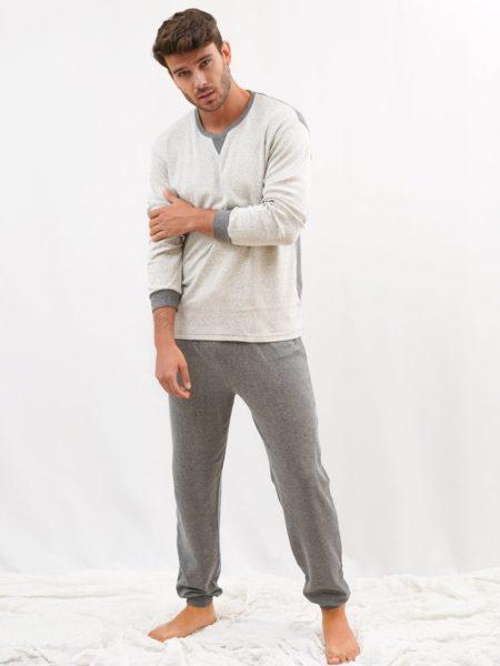 pijama de hombre invierno blanco