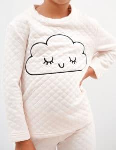 pijama niña invierno nube