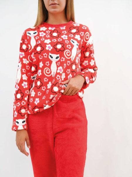 Pijama de mujer de terciopelo