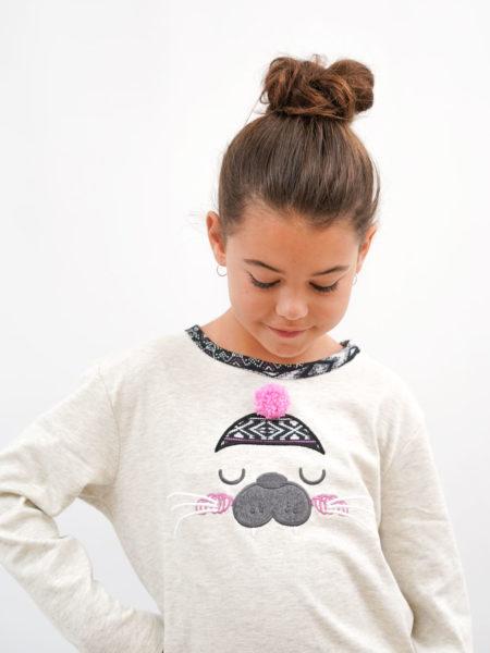 pijama de niña algodon estampado