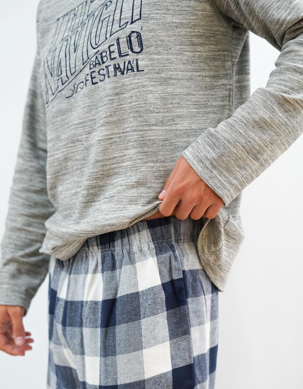 pijama de algodon de hombre entretiempo